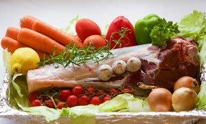 Carnes, frutas y verduras saludables